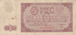 Imaginea #1 a 5 Zlotych 1948 (1. VII.)