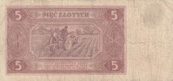 Imaginea #2 a 5 Zlotych 1948 (1. VII.)