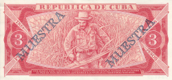 Imaginea #2 a 3 Pesos 1986 - SPECIMEN (MUESTRA)