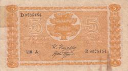 5 Markkaa 1945 (1946) - semnături Kivialho / Aspelund