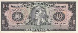 10 Sucres 1968 (24. V.) - Serie KX