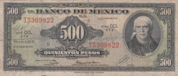Image #1 of 500 Pesos 1978 (18. I.) - Serie CCL