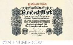 Image #1 of 100 Mark 1922 (4. VIII.)
