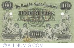 Image #1 of Reply - 100 Mark 1874 (1. I.) - Suddeutschland Bank - Reproduktion JF