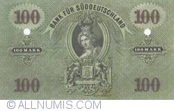 Image #2 of Reply - 100 Mark 1874 (1. I.) - Suddeutschland Bank - Reproduktion JF