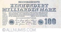Image #1 of 100 Milliarden (100 000 000 000) Mark 1923 (26. X.)