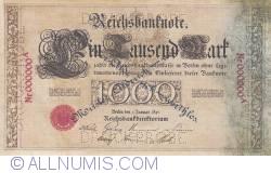 Imaginea #1 a Replică - 1000 Mark 1891 (1. I.) - Reproduktion JF
