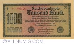 Image #1 of 1000 Mark 1922 (15. IX.) - 1