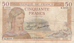 Image #1 of 50 Francs 1936 (17. IX.)