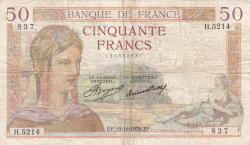 Imaginea #1 a 50 Franci 1936 (19. XI.)