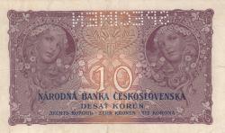 10 Korun 1927 (2. I.) - SPECIMEN