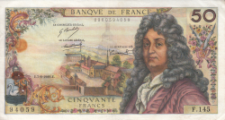 Image #1 of 50 Francs 1969 (7. VIII.)