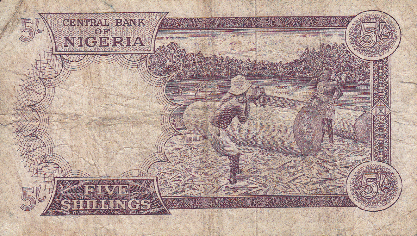 Biafra Nigeria 5 Shilling ND 1967 P-1 Unc