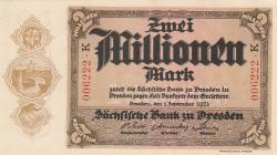 Image #1 of 2 Millionen (2 000 000) Mark 1923 (1. IX.)