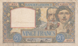 Image #1 of 20 Francs 1941 (8. V.)