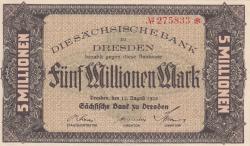 Image #1 of 5 Millionen (5 000 000) Mark 1923 (12. VIII.)