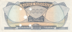 Imaginea #2 a 1000 Franci 1964 (1. VIII.) - anulat prin perforare