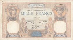Image #1 of 1000 Francs 1939 (21. IX.)