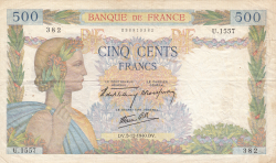 Image #1 of 500 Francs 1940 (5. XII.)