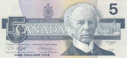 Image #1 of 5 Dollars 1986