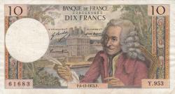 Image #1 of 10 Francs 1973 (6. XII.)