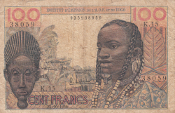 Image #1 of 100 Francs 1956 (23. X.)