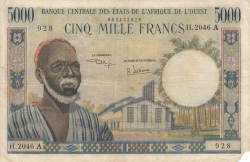 Image #1 of 5000 Franc ND (1961-1965)