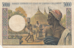 Image #2 of 5000 Franc ND (1961-1965)