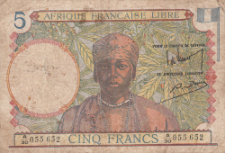 Image #1 of 5 Francs ND (1941)