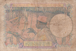 Image #2 of 5 Francs ND (1941)