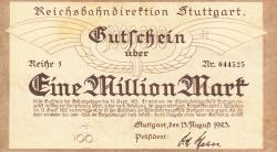 Image #1 of 1 Million (1 000 000) Mark 1923 (13. VIII.)