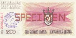 Imaginea #2 a 500 Dinari 1992 (1. VII.)