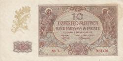 Image #1 of 10 Zlotych 1940 (1. III.) - 1