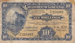 Image #1 of 10 Shillings 1942 (1. VI.)