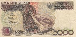 Imaginea #1 a 5000 Rupiah 1992/1994