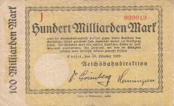 Image #1 of 100 Milliarden Mark 1923 (24. X.)