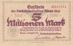 Image #1 of 5 Millionen Mark 1923 (8. VIII.)