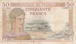 Image #1 of 50 Francs 1938 (20. X.)