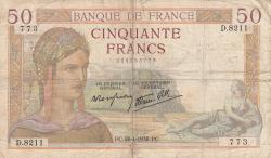 Imaginea #1 a 50 Franci 1938 (28. IV.)