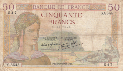 Image #1 of 50 Francs 1938 (6. X.)