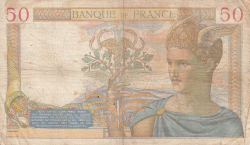 Image #2 of 50 Francs 1938 (6. X.)