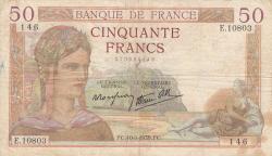 Image #1 of 50 Francs 1939 (10. VIII.)
