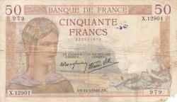Image #1 of 50 Francs 1940 (14. III.)