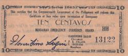 Imaginea #1 a 10 Centavos 1943