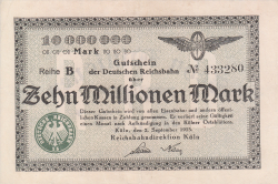 Image #1 of 10 Millionen (10 000 000) Mark 1923 (2. IX.)