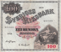 Image #1 of 100 Kronor 1959 - 1