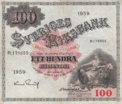 Image #1 of 100 Kronor 1959