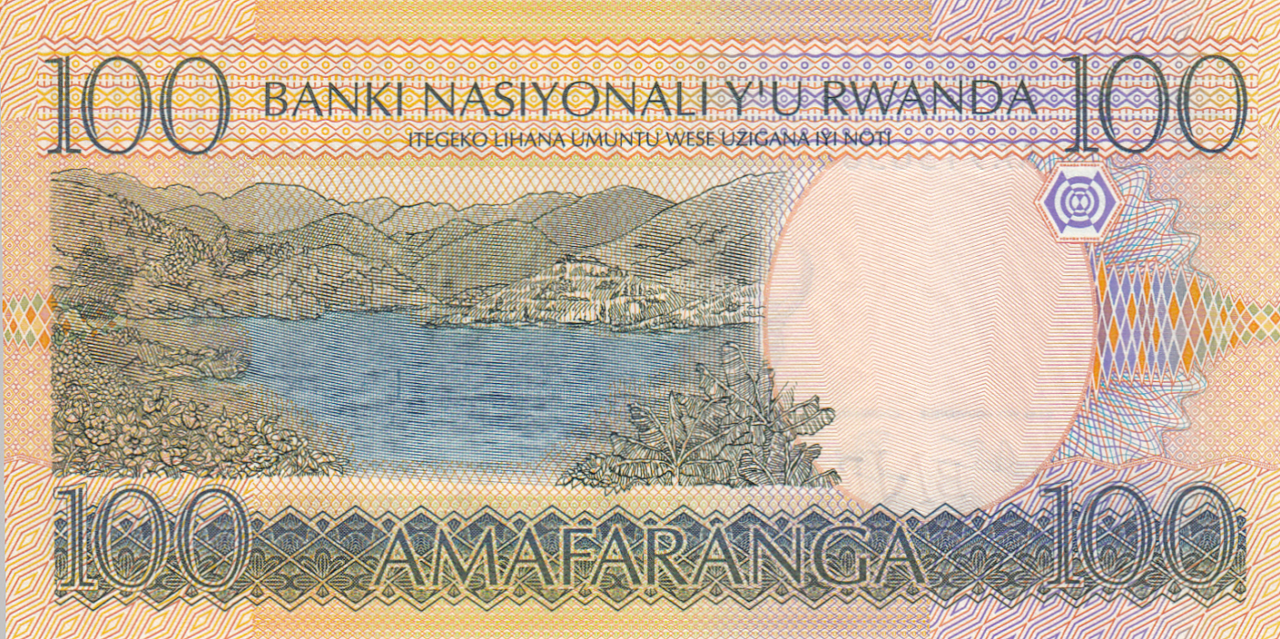 RWANDA AFRICA 100 FRANCS 2003 P 29b UNC BANKNOTE AFRICAN MONEY