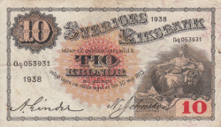 Image #1 of 10 Kronor 1938 - 1