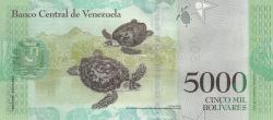 Imaginea #2 a 5000 Bolivares 2017 (23. III.)